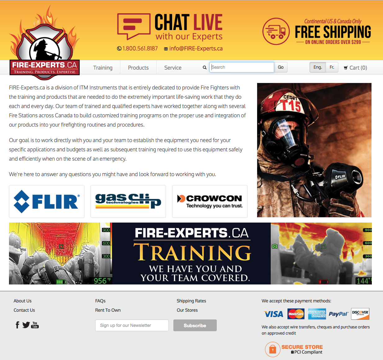 FIRE-Experts.ca - Training, Products & Expertise specifically for Fire Fighters.