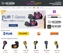 ShopThermography.ca - Carrying thermography tools from brands like FLIR, Fluke, Testo and REED