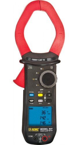 Aemc 607 True Rms Power Clamp Meter With Harmonics 1000v